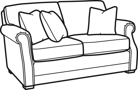 Couch Clipart Black And White 3 Station