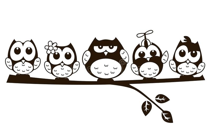 Cute owl clipart black and white 1 » Clipart Station