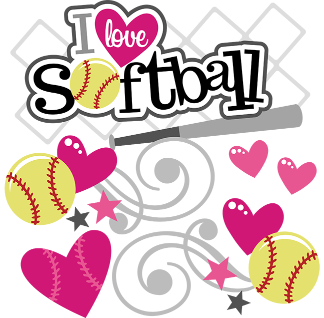 Softball love. Cute clipart station