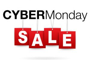 Cyber Monday add or flyer with percent sale