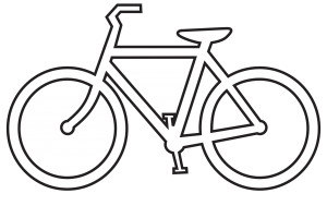 cycling clipart black and white 2