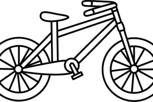 cycling clipart black and white 3