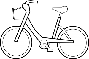cycling clipart black and white