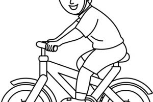 cycling clipart black and white 5