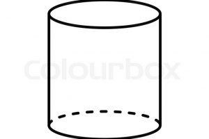 cylinder clipart black and white 2