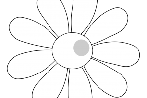 daisy black and white clipart 3