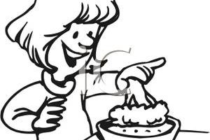 dip clipart black and white 1