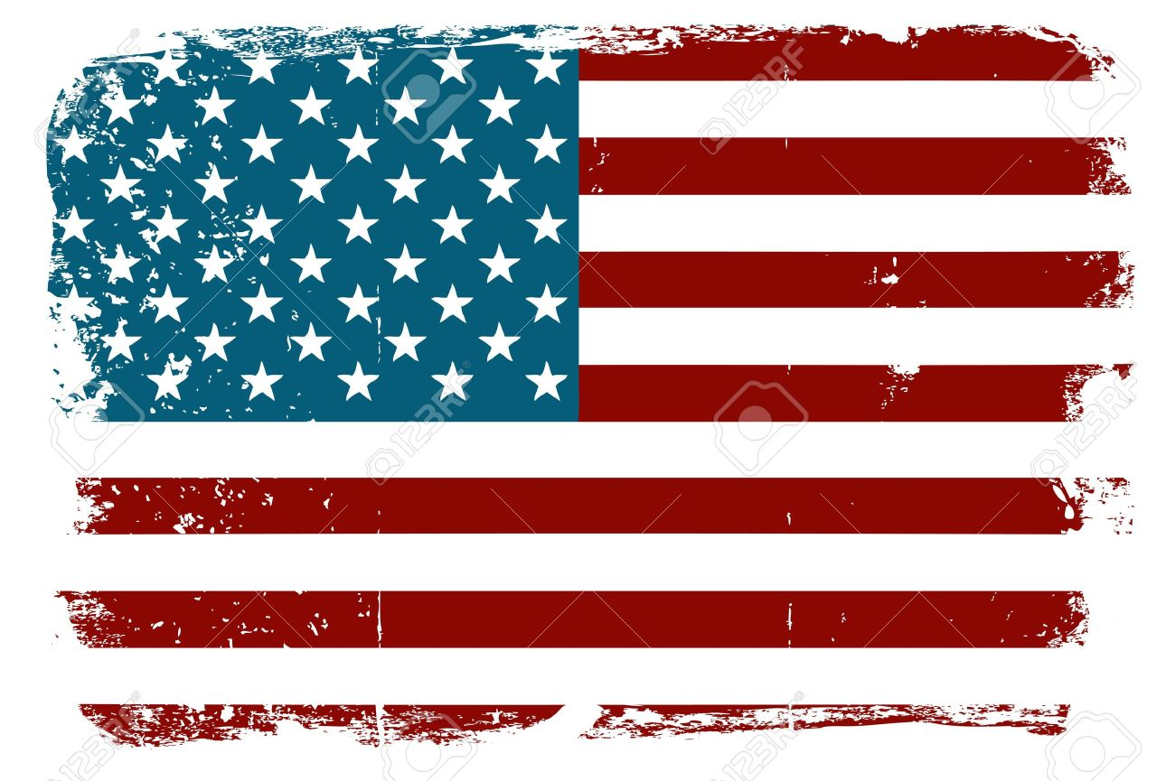 American flag distressed. Clipart station