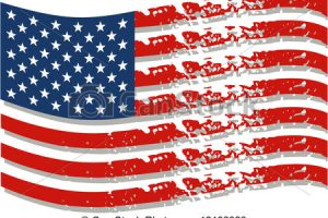 distressed american flag clipart 8