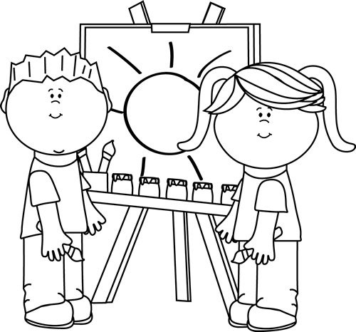 Drawing Clipart Black And White Intended For Child Drawing Clipart