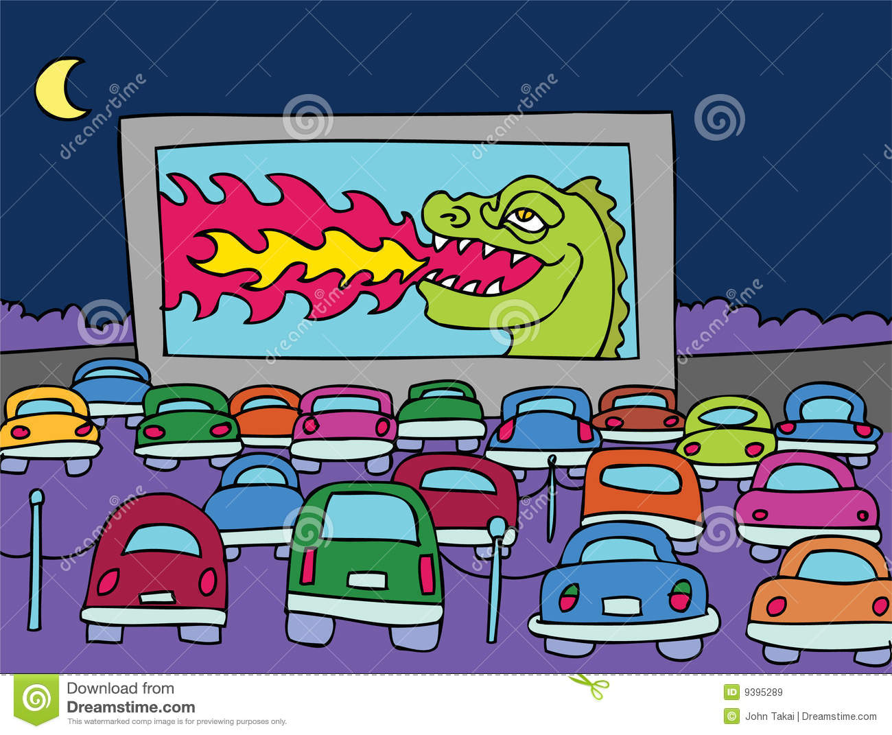 Movie drive in. Clipart station
