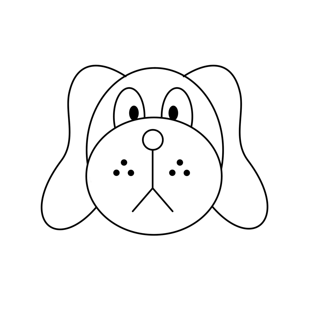 Easy to draw dog how to draw a dog face easy clipart best
