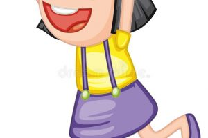 excited girl clipart 1