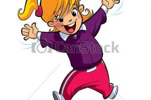 excited girl clipart 2