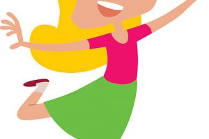 excited girl clipart 4