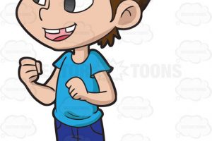 excited girl clipart 6