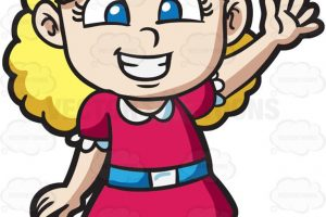 excited girl clipart 7