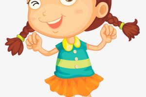 excited girl clipart 8