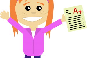 excited woman clipart