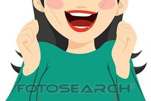 excited woman clipart 4