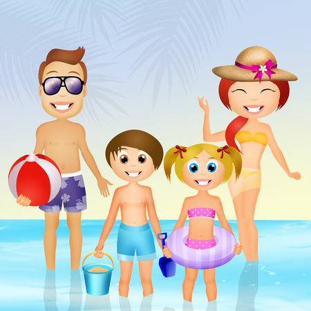 Family At The Beach Clipart 2 Clipart Station