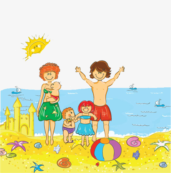Family At The Beach Clipart 7 Clipart Station