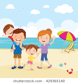 Family At The Beach Clipart 8 Clipart Station