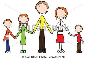 family of five clipart