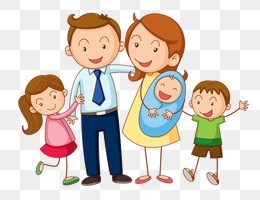 family of five clipart 8