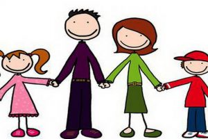 family of four clipart 1