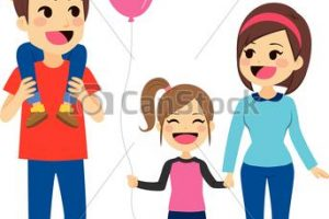 family of four clipart 2