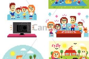 family time clipart 1