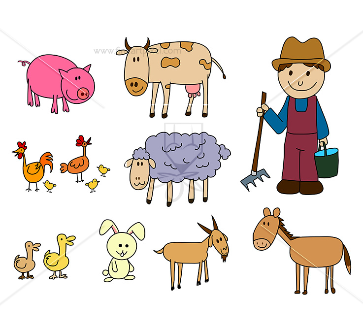 Farm animals clipart png 1 » Clipart Station