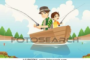 father and son fishing clipart 5