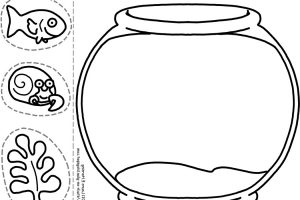 Fish Bowl Clipart Black And White 4 Clipart Station