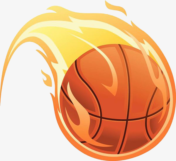 Basketball flaming. Clipart station