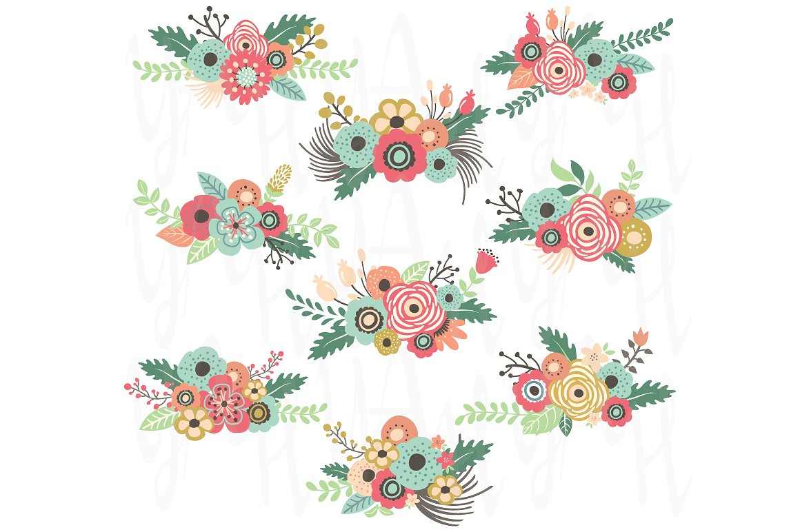 Floral banner clipart 3 » Clipart Station