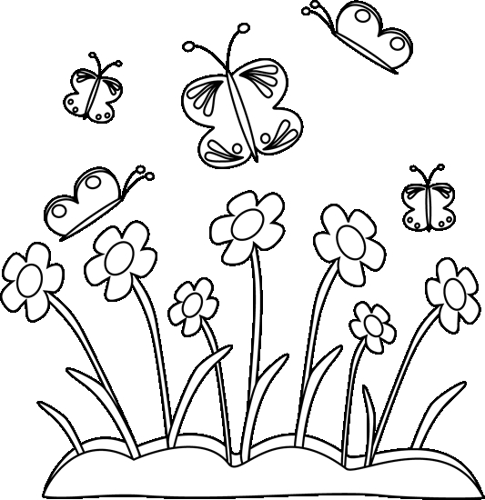Garden Clipart Black And White