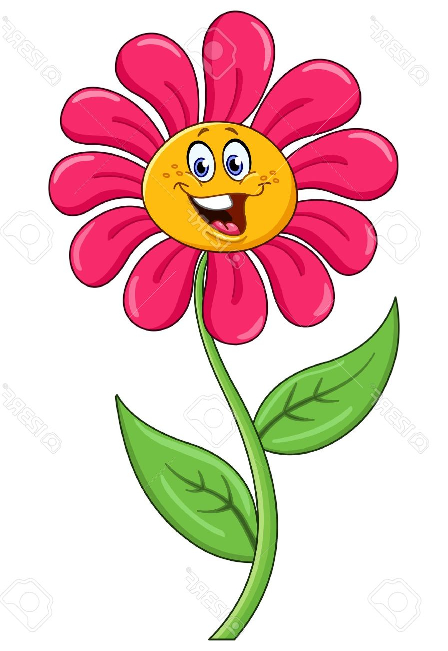 cartoon flowers with faces flower face clipart