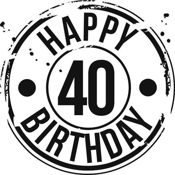 Free Happy Birthday Clipart Graphics Awesome Happy 40th Birthday