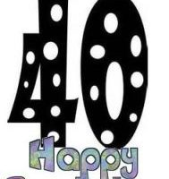 free 40th birthday clipart 8