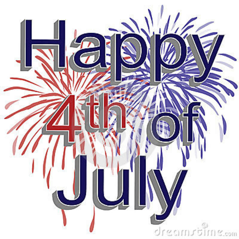 4th of july small. Free th fireworks clipart