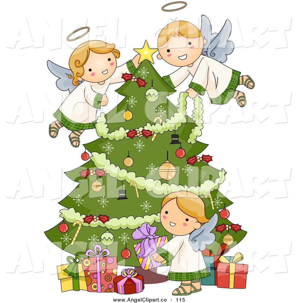 Christmas Angels Images Clip Art.Christmas Angel Clipart Elegant Christmas Angel Clipart