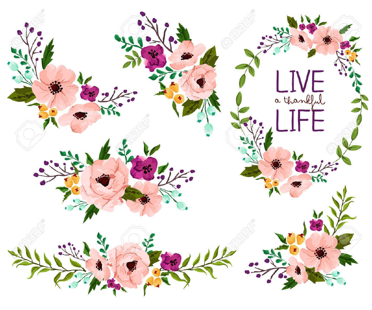 Watercolor flowers vector. Image result for free