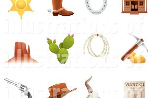 free western clipart 1