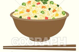 fried rice clipart