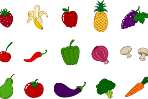 fruit and vegetable clipart