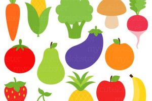 fruit and vegetables clipart 2