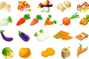 fruit and vegetables clipart 3