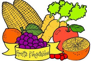 fruit and vegetables clipart